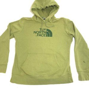The North Face Green Hoodie Logo Womens Size Large